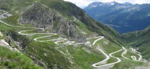Switzerland winding roads