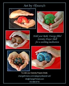 Afsaneh Reiki Energy filled prayer shells