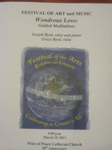 Festival of Arts Program