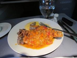 1st night flight dinner