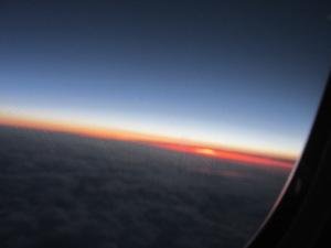 Flying dark into light