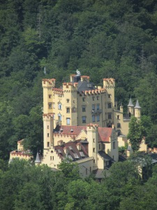 Neuschwanstein - out the window, Ludwig's father's castle