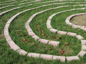 10-10--13 Labyrinth leaf trail