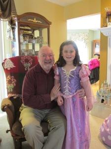 Dziadzia with princess