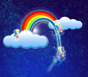 rainbow and little angel