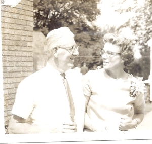 Dad and mom on our wedding day