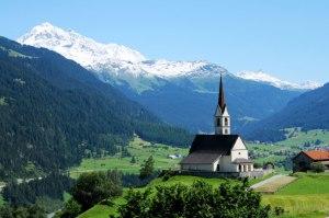Swiss Alps  church