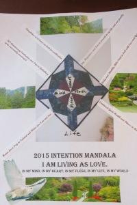 2015 Intention Mandala Living As Love