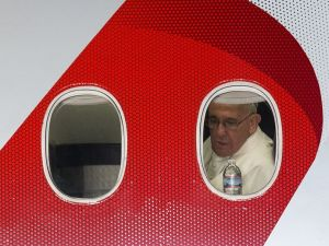 Pope Francis leaves