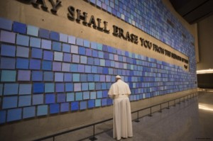 Pope Francis - memorial wall